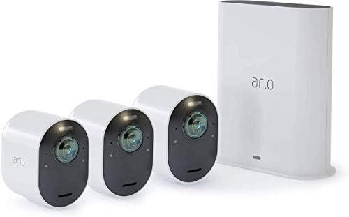 Arlo Ultra Wlan Überwachungskamera Alarmanlage Innen Aussen Kabellos Bewegungsmelder 4k Smart Home Farbnachtsicht 180 Grad Blickwinkel 2 Wege Audio Spotlight Vms5340 Weiß Baumarkt
