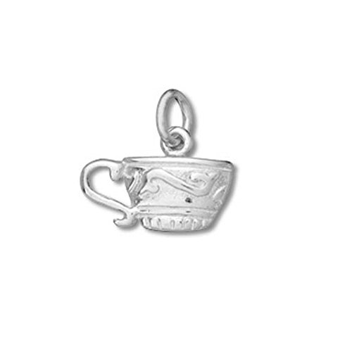 Sterling Silver Double Sided Teacup Charm Item #14333