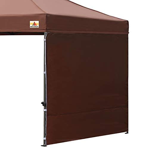 ABCCANOPY 15+Colors 10' Sun Wall for 10'x 10' Straight Leg pop up Canopy, 10' Sidewall kit (1 Panel) with Truss Straps (Brown) by ABCCANOPY
