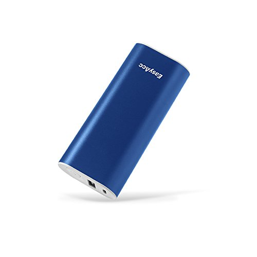 EasyAcc Batería Externa 6400mAh Cargador Móvil Portátil Power Bank Metal Carga Rápida 2.4A Salida para iPhone 6 6s 6 plus 7 Samsung Dispositivos Android HTC LG BQ Smartphone iPod MP3 Azul