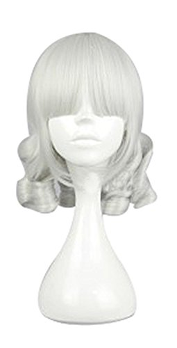 [Mtxc League of Legends Cosplay Sweet Baby Annie Wig Silvery White] (League Of Legends Annie Cosplay Costume)