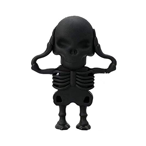 Vicole Fashion Kawaii 16GB USB 2.0 Skull Skeleton Shaped Flash Drive Pen Drive Flash Disk Accessories (Black, One size) (Shaped Gb Usb 16)