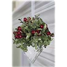 Kissing Krystal Mistletoe - Classic Red with Marquis Hanging Jewel