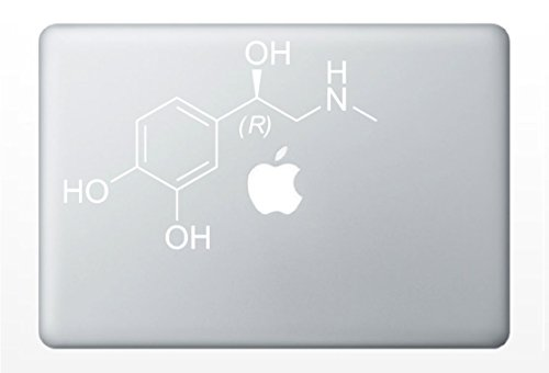 Adrenaline Molecule Laptop Decal | Chemical Compound Structure | Car Vinyl Sticker - Board Vinyl Cork
