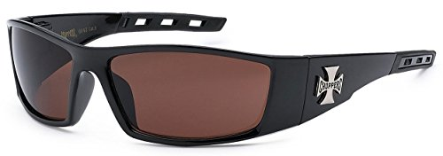 Amber 1 Pair Choppers Motorcycle Riding Biker Sports Sunglasses 4 Color Available ()