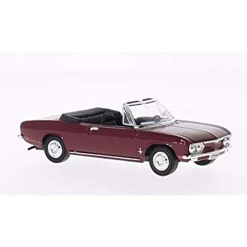 Chevrolet Corvair Monza, dark red, 1969, Model Car, Ready-made, Lucky The Cast 1:43