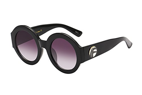 UV- Oversized Round Sunglasses Women Multi Tinted Frame,Fashion Trend Sunglasses(black - Black Big Glasses Trend