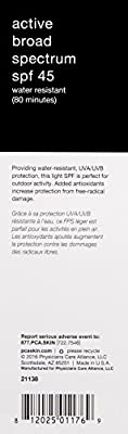 PCA SKIN Active Broad Spectrum Water Resistant SPF 45 , 3oz.