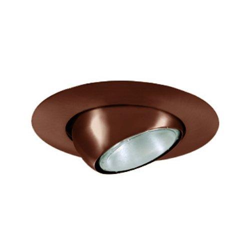 Voltage Bronze Trim Recessed Lighting (Jesco Lighting TM613AB 6-Inch Aperture Line Voltage Trim Recessed Light, Adjustable Eyeball, Antique Bronze)