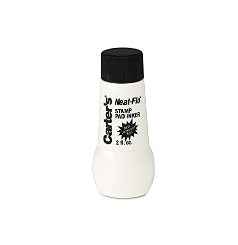 Avery 21448 Carters Neat-Flo Stamp Pad Inker, 2 Fl. Oz Bottle, Black Ink, (Carters Stamp Pads)