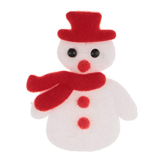 Christmas Themed Plush Fabric Applique Patch Costume Embellishments Trim Craft (Style - Snowman) -