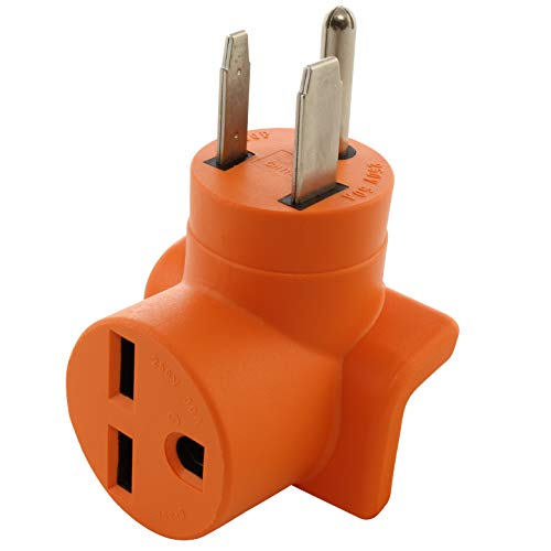 AC WORKS [AD650630] 6-50P Welder Plug to 6-30R 3-Prong 30 Amp 250 Volt HVAC Connection Adapter
