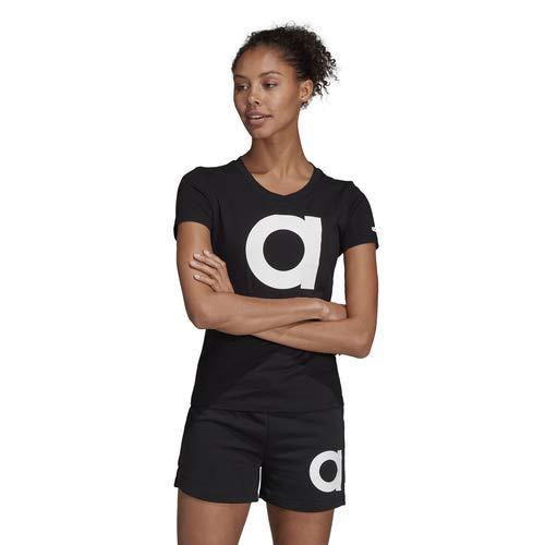 adidas Women's Essentials Brand Tee, Black/White, X-Large by adidas