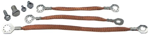 (I-5-9) Inline tube Radio Suppression Ground Straps and Bolts Compatible with 1965-67 Pontiac GTO ()