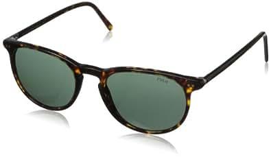 Polo Ralph Lauren Men's Ph3044 Round Sunglasses,Havana,52 mm