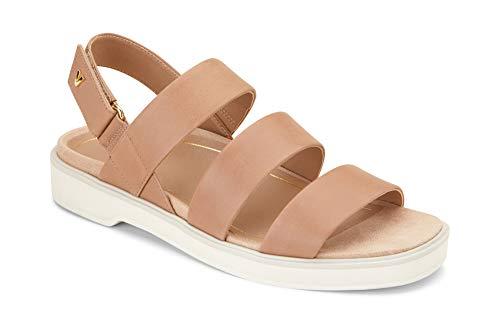 Vionic Women's Leila Keomi Backstrap Sandal - Ladies Concealed Orthotic Support Sandal Tan 7.5 M US