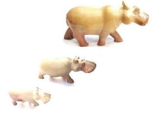 Katangi Handcrafts Handmade Soapstone Hippo (M)