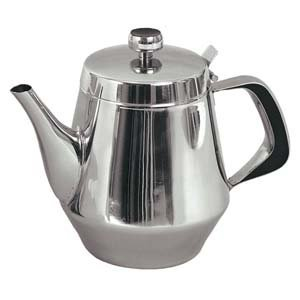 Stainless Steel Gooseneck Tea Pot w/Vented Hinged Lid, 32 Fluid Ounces (4-5 Cups) by Pride Of India -