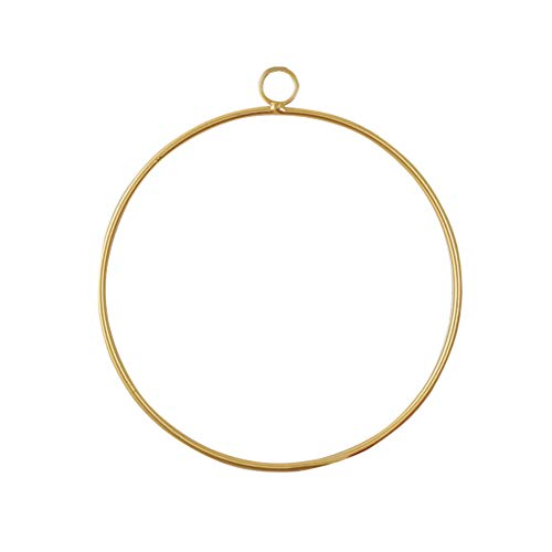 (Vosarea Floral Hoop Wreath Hemp Rope Wall Pendant for Wedding Party Backdrop Decor (Circular))