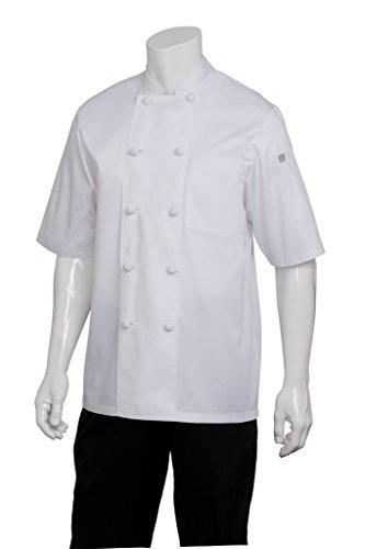 Chef Works Men's Tivoli Chef Coat, White, X-Large by Chef Works