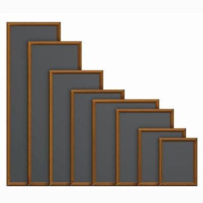 Marrón oscuro marco pizarras - 300 x 400 mm. Para ...