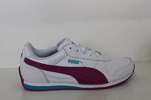 Puma Fieldsprint L Jr - white-vivid viola-capri breeze, Größe:5.5