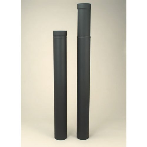 Copperfield 21135 6 x 38 Inch-70 Inch Adjustable Length Heat-fab 22-ga Welded Black Stovepipe by Copperfield Chimney Supply