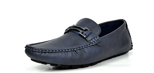 BRUNO MARC MODA ITALY HUGH-01 Men's Classy Fashion On The Go Driving Casual Loafers Boat shoes Navy Size 8.5