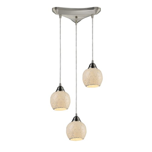 Elk 10208/3CLD Fission 3-Light Cloud Pendant In Satin (Cld Three Light)