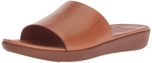 - FitFlop Women's Sola Slide Sandal, Caramel Leather 9