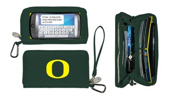 Charm14 NCAA Oregon Ducks Deluxe Cell Phone Wallet-Fits All Phones