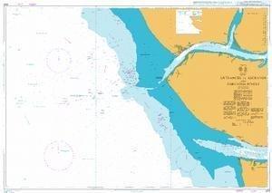 Ba Diagramm 3321  Eingängen zu Escravos (und Forcados Flüsse Von United Kingdom Hydrographic Büro