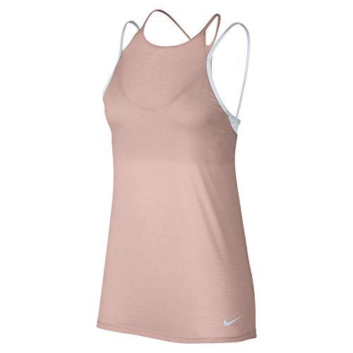 NIKE Dri-FIT Women's Training Tank Top (M, Crimson Tint/Pure Platinum/Pure Platinum) (Women Nike Tanks Workout)