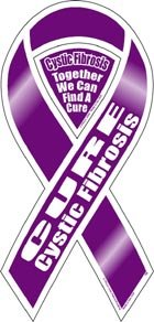 cure cystic fibrosis 2 in 1 magnet - Cystic Fibrosis Color