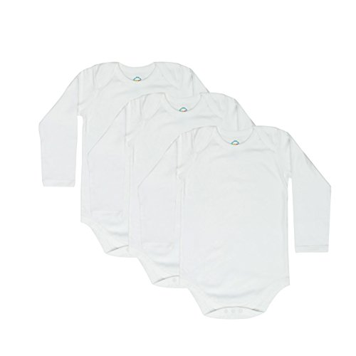 CBObaby 4T 5T 6T Toddler Bodysuits Long Sleeve Envelope Neck 3 Pack ()