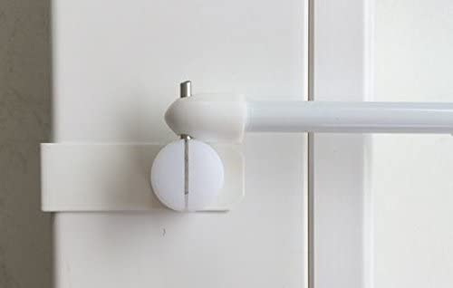dekondo 2 ganchos de ventana para barra de cortina, barra de vitrina, visillos (tanto lateral como superior) (15 – 20 mm de grosor, color blanco).