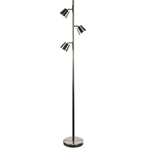 Dainolite 3 Light Satin (Dainolite 3 Light LED Floor Lamp in Satin Chrome)