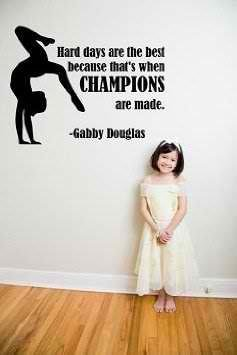 Design with Vinyl 5Q-DMIH-2ZV0-13 Decor Item Gabby Douglas Gymnastic Sports Quote Girls Bedroom Vinyl Wall Decal Sticker, 18-Inch x 20-Inch, Black