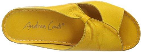 Andrea Conti 0029216051 - Zuecos Mujer amarillo - Gelb (gelb 051)