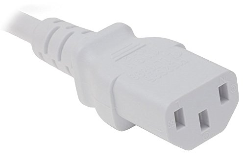 OMNIHIL (8FT) AC Power Cord for Brother MFC Series Printers Replacement Power Supply - White by OMNIHIL (Image #1)