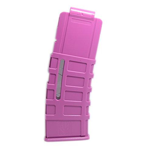 F10555 Worker Mod 15 Darts Round Magazine Clip for Nerf N-Strike Elite Color Pink