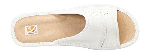 Blanc authentique cuir 36 Femmes chaussons taille 41 luxe confort pantoufles qEPtwzvx