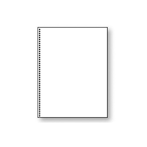 8-1/2'' x 11'' Laser Cut Sheet, 20# White Stock, 43 Round Hole Coil Punch for Spiral Bind (Carton of 2500)
