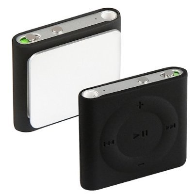 Ipod Shuffle Skin Case - Importer520 Silicone Skin Cover Case for Apple iPod shuffle 4G - Black