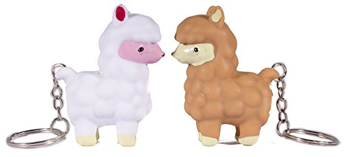 Barry Owen Co. Pooping Llamas - Set of 2 Naughty Pooping Llama Key Chains -