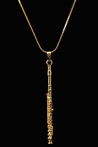 Flute Necklace - Gold