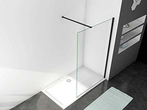 Mamparas de Ducha Pantalla Panel Fijo Perfil Negro Cristal Antical 8mm Barra2 90cm - 50x200cm: Amazon.es: Bricolaje y herramientas