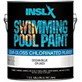 COMPLEMENTARY COATINGS CHL RB PP CR2623092-01 INSL-X Ocean Blue Chlorinated Rubber Swimming Pool Paint, 1-Gallon, 1 Gallon,