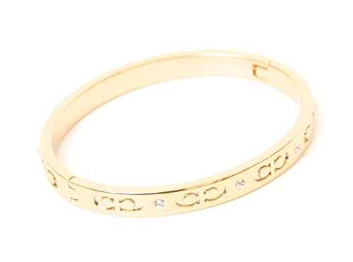 COACH KISSING C HINGED BANGLE - GOLD ()