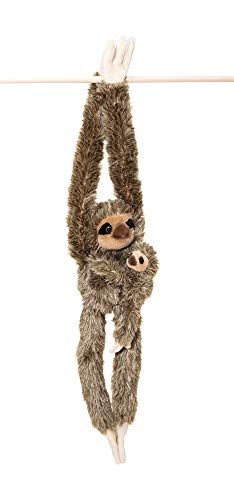 32-Inch Hanging Sloth Stuffed Animal With Baby - Ultra Soft Plush Design With Hands And Feet That Connect - Realistic Looking Three Toed Sloths - Bring These Popular Sloths Home To Kids Ages 3+ (Animal Large Stuffed Sloth)